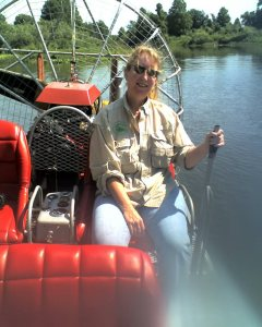 On a friends airboat. 2009? Lake Hatchineha , Near Camp Mack Fish Camp.