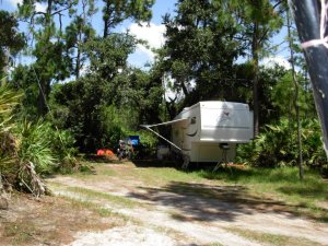 Our Home At Lake Kissimmee State Park. Site 62. Day Use Area. We lived in the RV for 5 years.