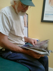 Danny waiting for the doctor.