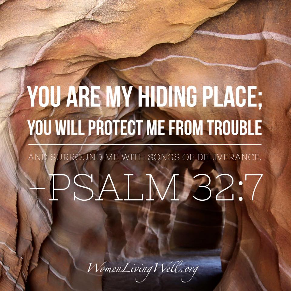 Friday's Bible Verse Psalms 32:7 – Sarah's Attic Of Treasures