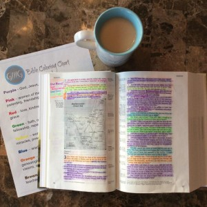How To Use The SOAK Bible Study Method and The Bible Coloring Chart-  /Update From Sarah