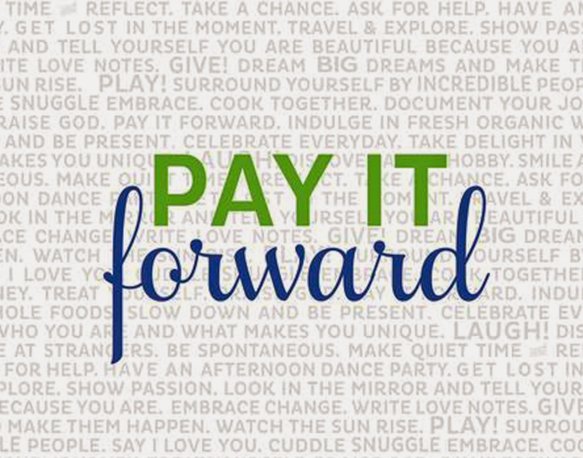 October's Pay It Forward- Week One.  Friday, October 2, 2015