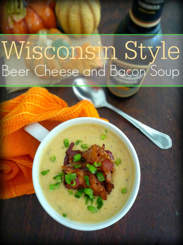 #Wisconsin #beer #cheese and #bacon #soup