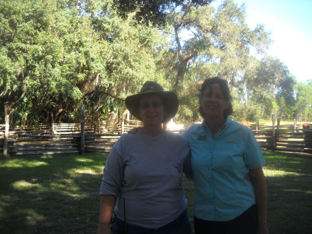 Liz and I.   Liz Sparks  Paddling Trail Coordinator