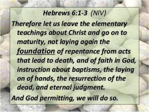 Bible Study Hebrews Chapter 6 – 1/5/16 – Sarah's Attic Of Treasures