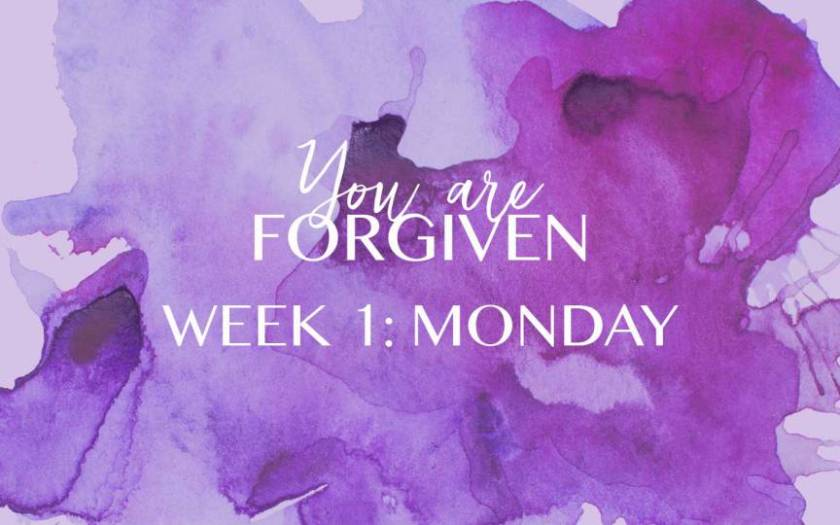 YOU ARE FORGIVEN.