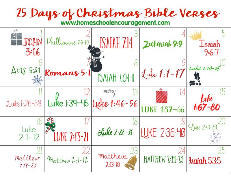 25 Days of Christmas BibleVerses