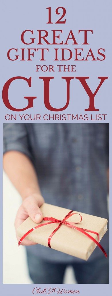 12 Great Gift Ideas For The Guy On Your ChristmasList