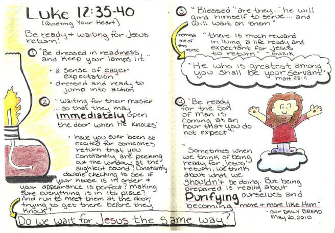 Luke 12:35-40, Waiting onJesus