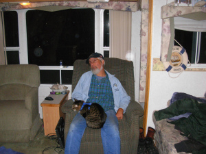 Danny and Mitten's . Danny just crashed. Mittens was Danny's cat. She died in 2014 at the ripe old age of 18.