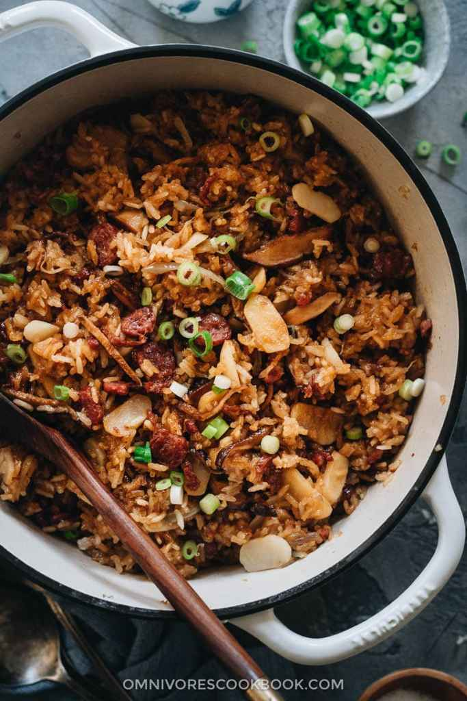 Sticky Rice Stuffing (A Chinese-Inspired Thanksgiving Recipe) BY Omnivore Cookbook