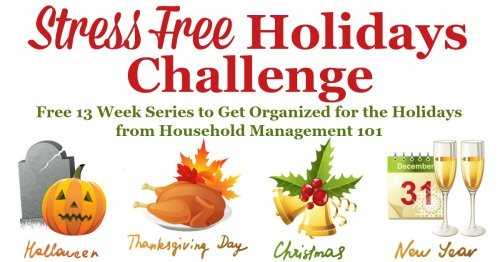 Getting Ready For Thanksgiving (And Christmas) From Household Management 101