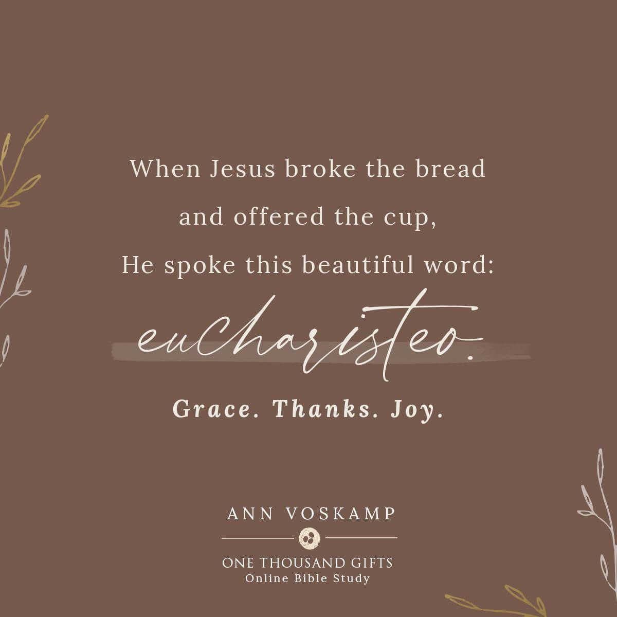 One Thousand Gifts Session 1 – Attitude of Gratitude /Ann Voskamp
